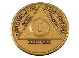 AA Alcoholics Anonymous Bronze Medallion Years 1-50 - $5.79