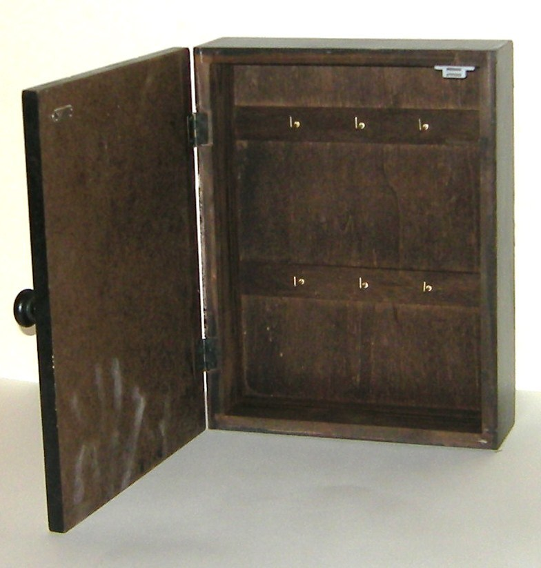 Rustic Distressed Vintage Look French Country Wood Hanging Key Box Cabinet New