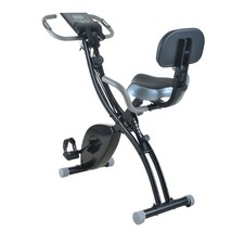 Household Magnetic Bike Folding Upright Bike with Backrest & Armrest & R... - $169.49