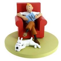 Tintin red armchair resin statue NEW Icons collection Tintin image 3