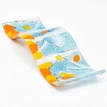 Fused Art Glass Bluebird Fall Aspen Tree Wavy Decor Sun Catcher Handmade Ecuador image 7