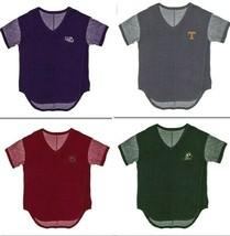 Blue 84 NCAA Juniors Mini Mascot Crest V-Neck Terry Tee  - Choose Team & Sizes - $13.45