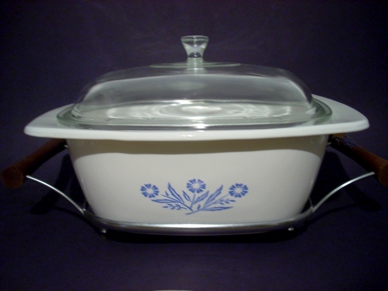 Primary image for Corning Ware Cornflower 4 Qt Dutch Oven, Rack, Cradle P34B USA