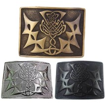 CC Scottish kilt Belt Buckle Celtic Knot Design Antique/Chrome/Jet Black... - $12.88+