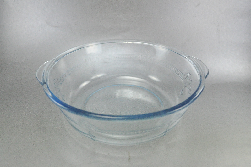 Fire King Philbe Blue Sapphire Pie Plate Covered Baker Casserole