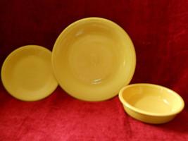 Homer Laughlin Fiesta 3 Piece Set Yellow - $14.80