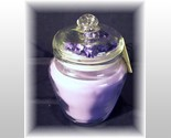 Lavender jar candle with purple flower thumb155 crop