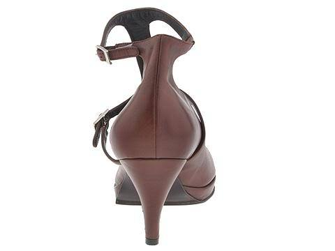 Type Z Size 8 Gemma Womens Shoes T-Strap Heels Strappy Dress Buckles Pumps Brown