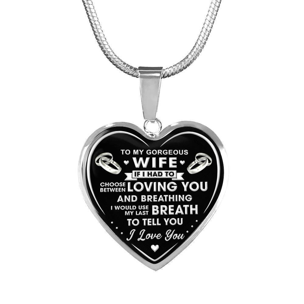 Luxury Wedding Anniversary Gifts: To My Gorgeous Wife Luxury Necklace Gift Wedding