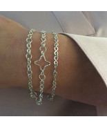 Star Bracelet - Fine 925 Sterling Silver Bracelet. - $63.00
