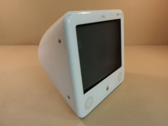 Apple eMac 1GHz 17in PowerPC G4 PowerMac White 40GB Hard Drive A1002 EMC 1955