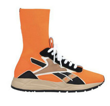 Reebok Women's Sz 6.5 VICTORIA BECKHAM BOLTON SOCK SHOES SOLAR ORANGE DV... - $191.10