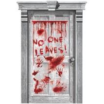 Asylum Dripping Blood Plastic Door Poster Halloween Party Decoration - €5,25 EUR