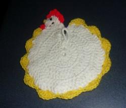 Brand New Handmade Crocheted White Chicken Pot Holder For Dog Rescue Cha... - $10.39
