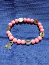 Pink Breast Cancer Awareness Bracelet - $7.00