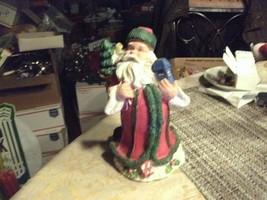 "20#36  Vintage Loomco Santa Claus 5 1/2"" tall Christmas Stand Up Decorat... - $7.91"