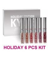Kylie Jenner Lip Kit Matte Liquid Lipstick 6 pcs Set Lipgloss Holiday Ed... - $13.44