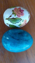 Two Collectible Alabaster Marble Stone Easter &... - $18.95