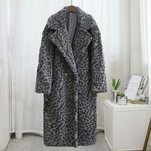 Luxury Fashion Leopard Long Thick  Faux Fur Teddy Bear Coat image 12