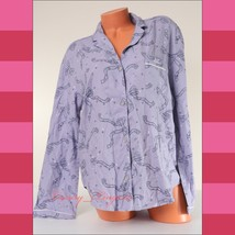 Victoria's Secret VS Long Sleeve Button-up Bow Cotton Pajama Sleep Shirt... - $19.99