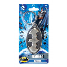 DC Comics Batman 3D Bat Chest Logo Metal Pewter Key Ring Keychain NEW UN... - $8.75
