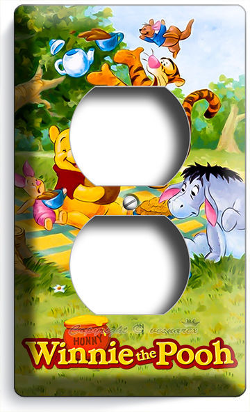WINNIE THE POOH LIGHT SWITCH OUTLET WALL PLATE COVER COYS GIRLS BEDROOM ROOM ART