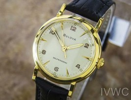 Bulova L6 Luxury Dress 1960s Gold Plated Unisex Selfwinding 31mm Swiss watch L70 - $584.10