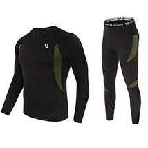 UNIQUEBELLA Men's Thermal Underwear Sets Top & Long Johns Fleece Sweat Q... - $30.25