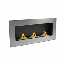 """WOLFIRE® Ventless 59"""" Wall Mount Fireplace Ethanol Heater w/ Stainless 3... - $506.99"""