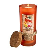 Mai Tai Highball Scented Jar Candles 33 Hours Burn Time Cork Lid - $17.41