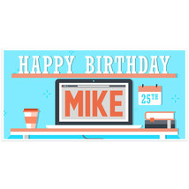 Desktop Birthday Party Backdrop - $22.28