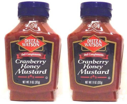 Dietz & Watson, Deli Compliments, Cranberry Honey Mustard, 11oz Bottle Pack of 2