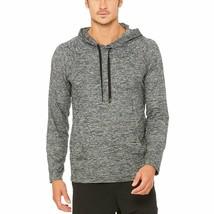 NWT $80 Mens Alo Yoga Conquer Hoodie Stretch Shirt in Grey Marl sz XXL - $24.50