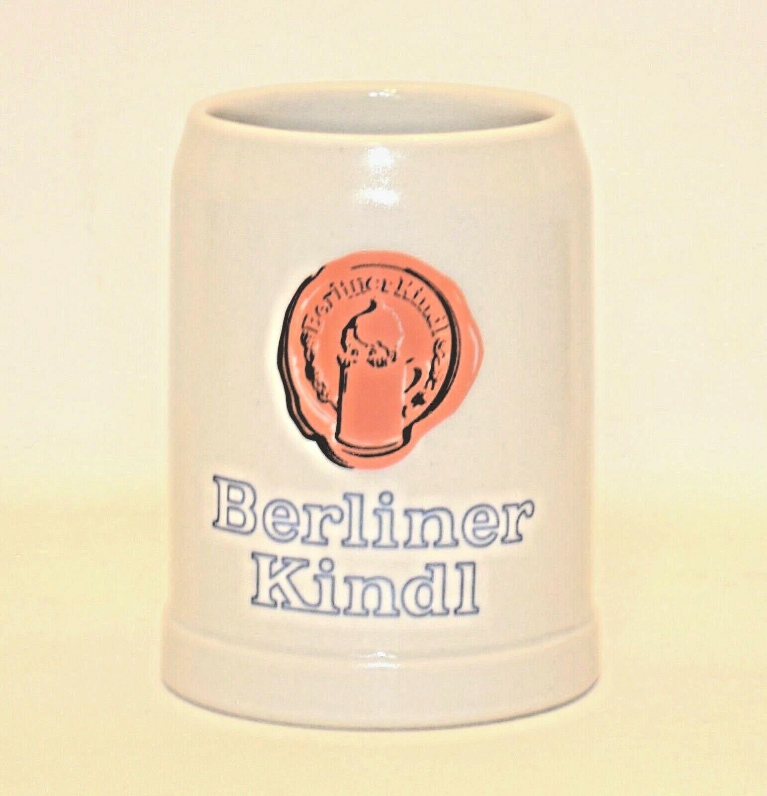 Berliner Kindl Beer Collectible Mug Ceramarte Ceramic Made in Brazil - £8.63 GBP