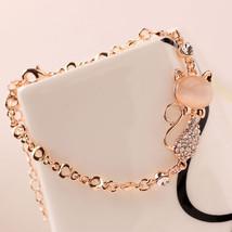 Cute Zircon Cat Charm Bracelet - $9.99