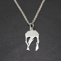 Sterling Silver David Bowie Necklace Pendant - 16,18, 20,22,24 Inch Chai... - $52.00