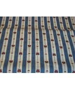"""Craft Fabric Traditions by Yard Blue Stripes w Hearts 44"""" Wide NEW Mater... - $3.95"""