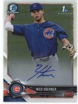2018 Bowman Draft Chrome Autographs Nico Hoerner Chicago Cubs Rookie RC ... - $134.99