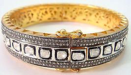Handmade Polki Pave 925 Sterling Silver Rose Cut Diamond Wedding Bracele... - $579.90