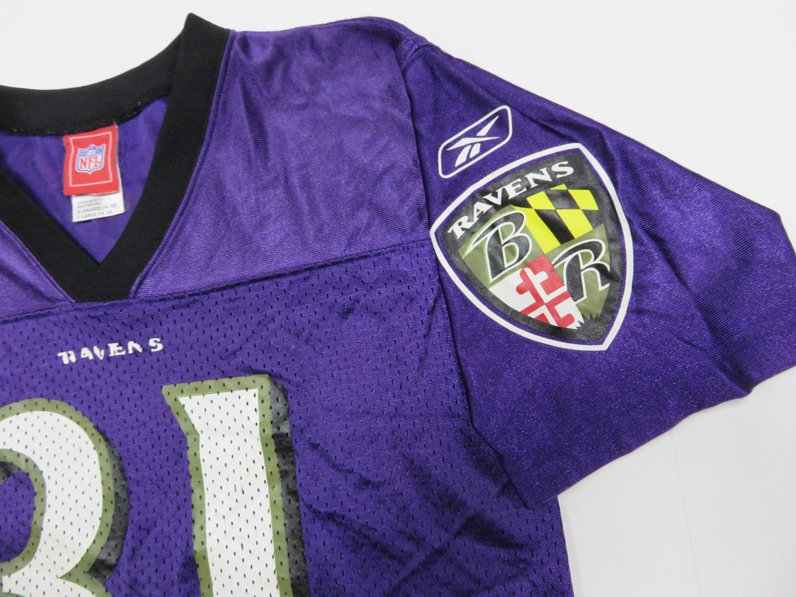 eac60ce8a5a NFL REEBOK Ray Lewis #31 Baltimore Ravens Purple YOUTH Size Large (14-16