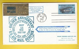 ROCKET RESEARCH INST ROCKET FLOWN COVER CARSON CITY NV 5/16/68 #206/1050... - $6.96