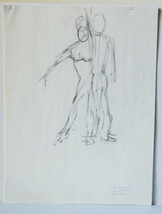 """2001 B/W Figure Drawings 24"""" Sketches Human Body Nudes Study Set of 15  - $18.99"""