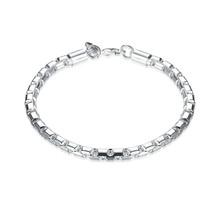 NEW Retro Genuine s925 Sterling Silver Rolo Link Chain Bracelets Unisex ... - $9.79