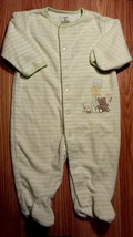 "Girl's or Boy's Size 6 M 3-6 Month Carter's Green ""Baby"" Bear Duck Foote... - $6.75"