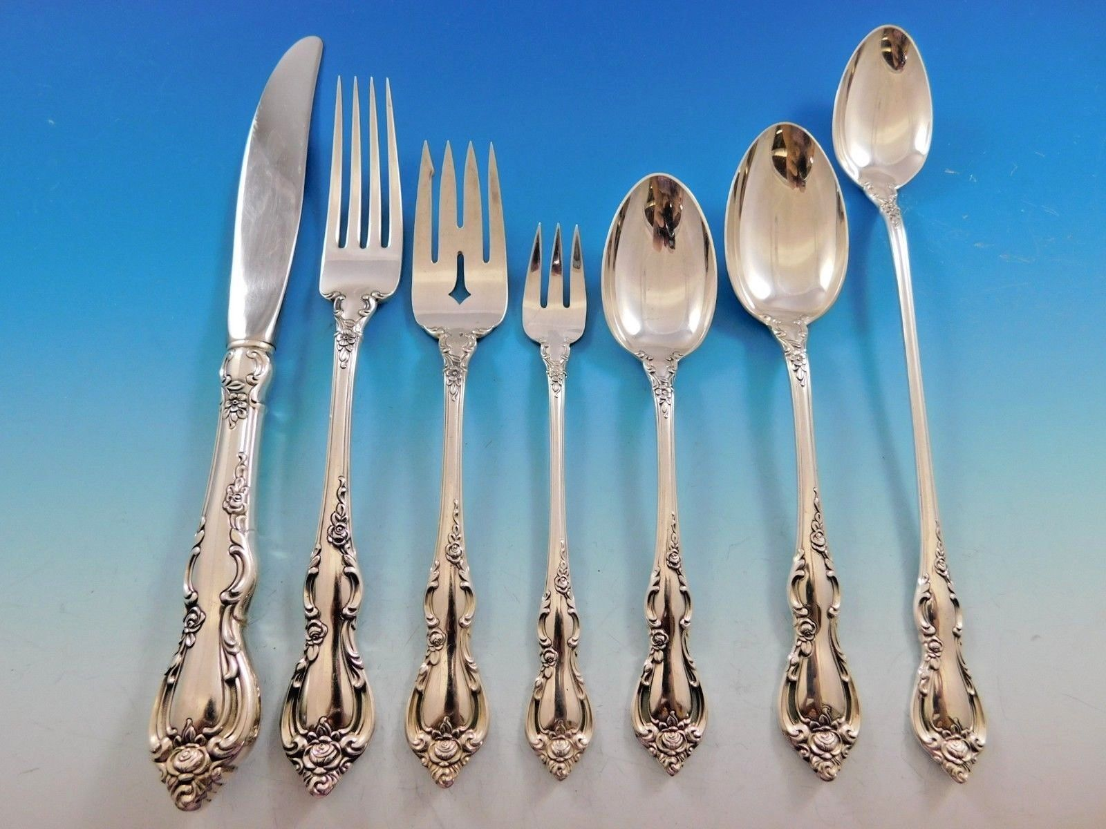 Spanish Provincial by Towle Sterling Silver Flatware Set 12 Service 89 Pieces