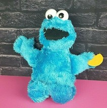 "Hasbro Feed Me Cookie Monster Talking Vibrating 14"" Sesame Street Plush ... - $12.86"