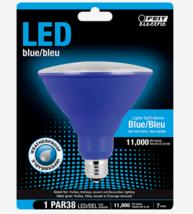 FEIT Electric BLUE LED Bulb PAR38 E26 Medium 40 Watt Equivalence Weatherproof - $14.59