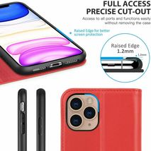 """SHIELDON iPhone 11 (5.8"""") Pro Case with Kickstand, Genuine Leather, Red image 5"""