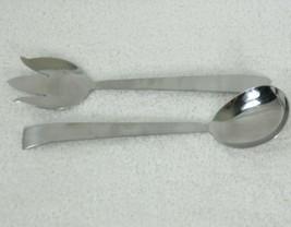 Vintage Nasco Kronor Stainless Steel Salad Fork Serving Spoon Japan Mid ... - $29.65