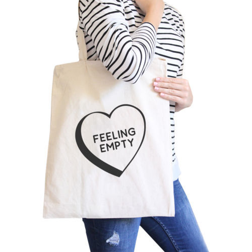 Primary image for Feeling Empty Canvas Eco Bag Unique Graphic Cute School Bag